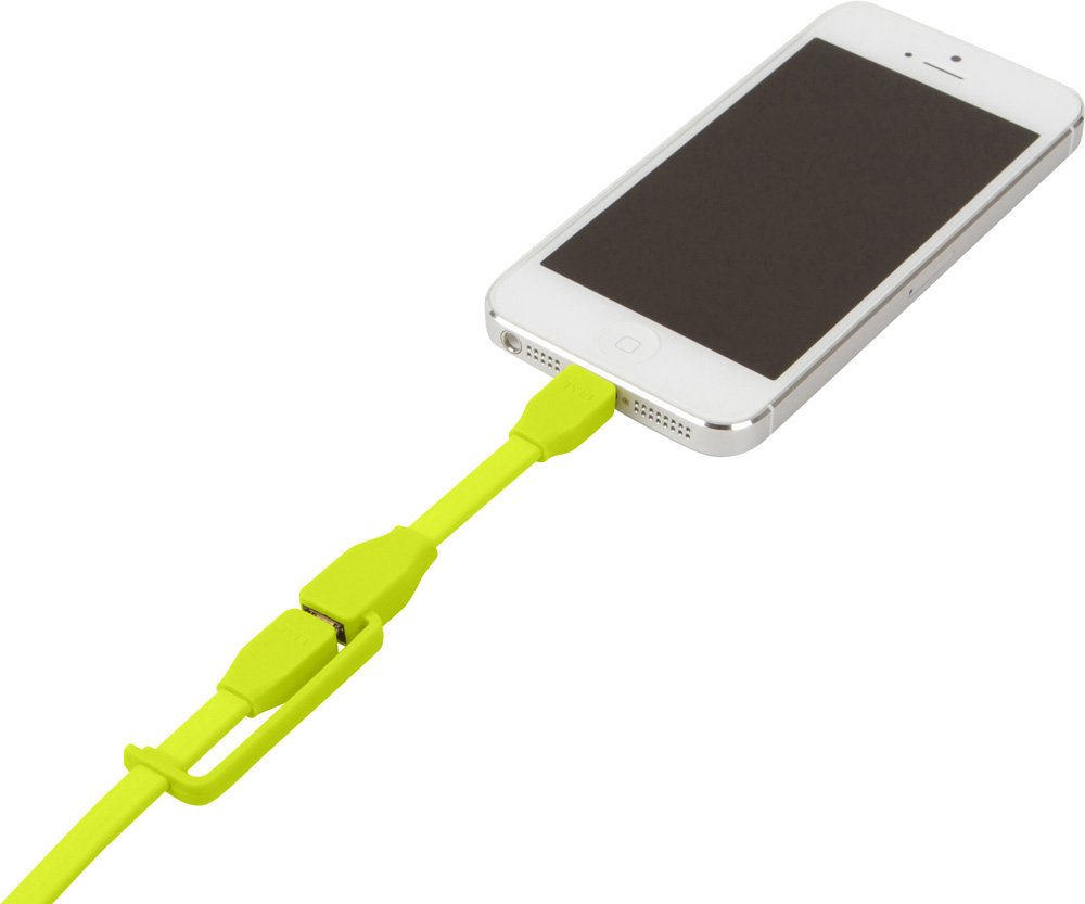 Tylt Syncable-Duo 1' Charge and Sync Cable with Lightning & Micro USB Connector for iPod/iPhone/iPad, Green by Technocel (Image #5)