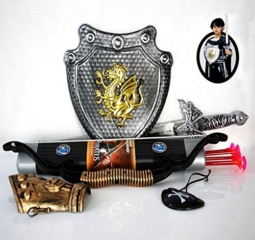 Children Toys Bow and Arrow Double-edged Swords With 3 Suckers Archery