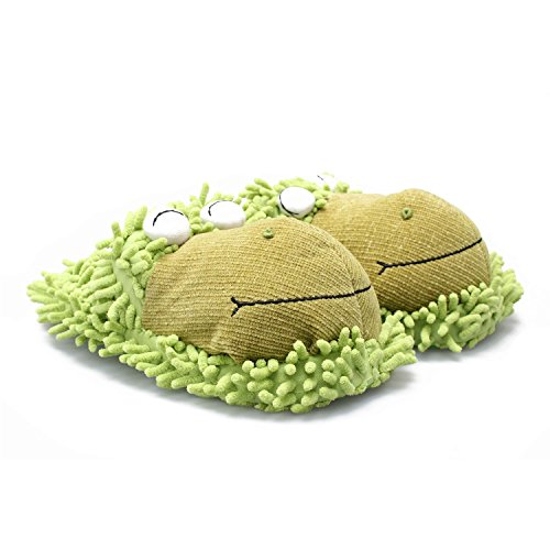 216582d83c5 Kreative Kids Fuzzy Frog Slippers (Green