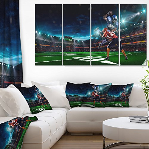 Designart American Football Player Sport on Canvas Art Wall Photgraphy Artwork Print
