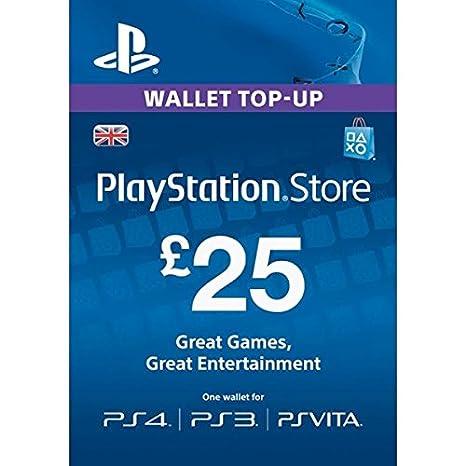 GBP25 Sony Playstation Network Card PSN UK (PlayStation Vita ...