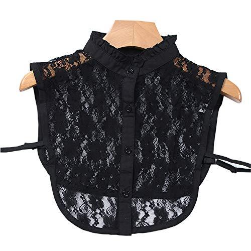 AORAEM Women's Lace Stand Vintage Detachable Fake Collar (Black)