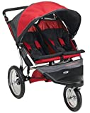 Schwinn Free Wheeler AL Double Swivel Wheel Jogger Stroller (Red/Black)
