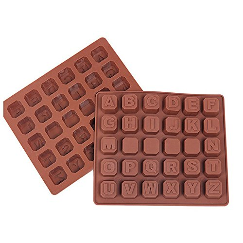 Tiean 26 Letter Food Grade Silicone Mold Chocolate Spaces Ice Cube Cute Mold Cake Mold Baking Mold -