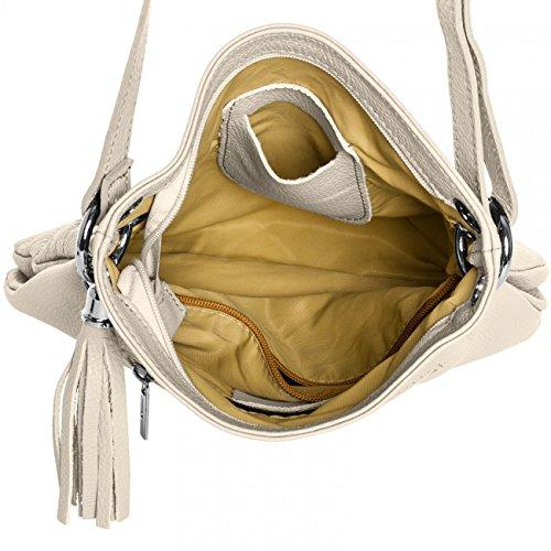 en CASPAR main TL571 Sac cuir à pour beige femme xUIPUwq
