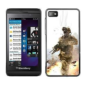 Paccase / SLIM PC / Aliminium Casa Carcasa Funda Case Cover - Soldier Battle Field - Blackberry Z10