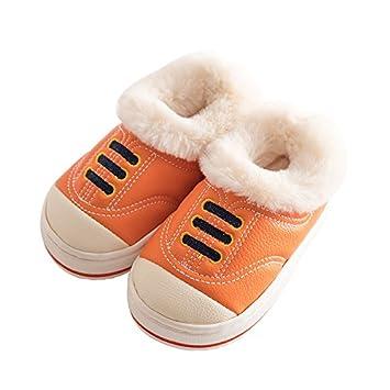 meilleur service 1e029 44e4f CWJDTXD Bébé pantoufles en coton hiver 1-3 ans 2 enfants ...