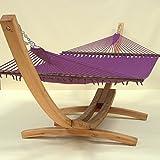 Caribbean Hammocks Jumbo and Wood Arc Hammock Stand (Purple)