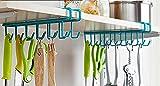 MosQuick Multifunctional Metal Ceiling Hook (Blue or Green) (Set of 2 pcs-24 Hooks)