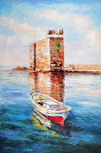 Perfect Effect Canvas ,the Reproductions Art Decorative Canvas Prints Of Oil Painting 'a Boat On The Calm Water', 18x27 Inch / 46x69 Cm Is Best For Home Theater Decoration And (Fair Gravy Boat)