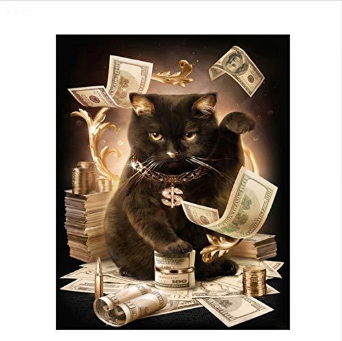 CZYYOU DIY Digital Digital Digital Malen Nach Zahlen Der Dollar Katzen Ölgemälde Wandbild Kits Färbung Wandkunst Bild Geschenk - Ohne Rahmen - 40x50cm B07PMR83XT | Neue Produkte im Jahr 2019  af91c1