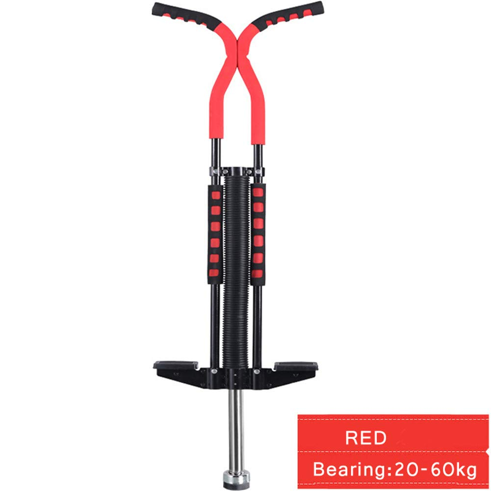 Pogo Stick Spring Rod Bounce Stick Anti-Slip Foam Handle for Children Adults Outdoor Play,Red by SVNA (Image #1)