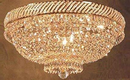 French Empire Crystal Flush Chandelier Lighting H 16