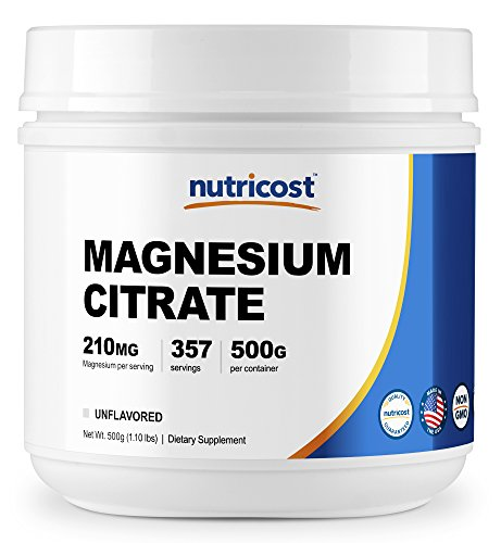 Nutricost Magnesium Citrate Powder (500 Grams) (Unflavored)