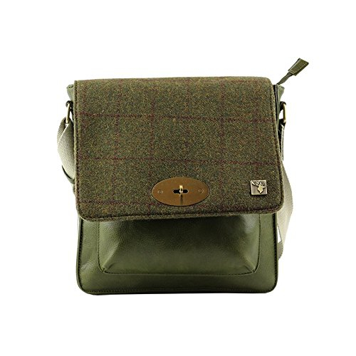 Green Bag Tweed Country Tweed Messenger Green Messenger Bag Tweed Messenger Bag Country TAFaxq