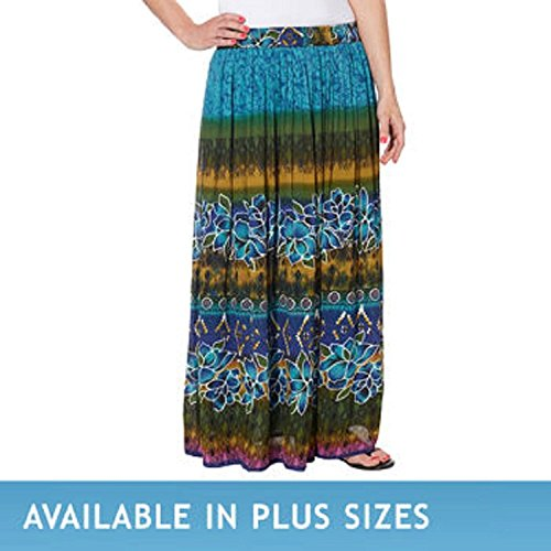 Chaudry Ladies' Pull-on Skirt-Blue Floral, XX-Large supplier