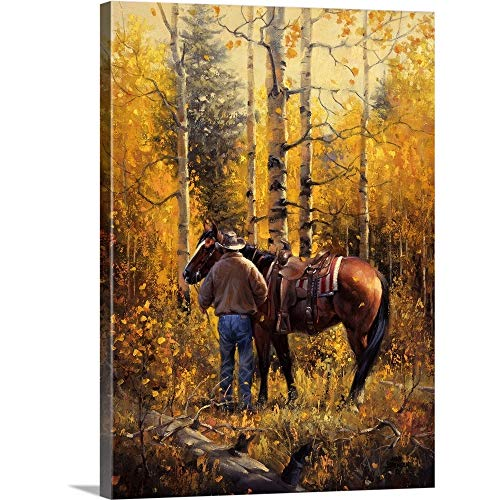 Sangre de Cristo Gold Canvas Wall Art Print, 12 x16 x1.25