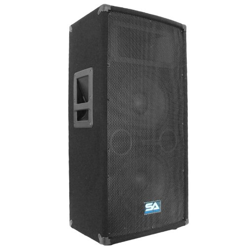 Seismic Audio 100T Pair of Dual 10-Inch PA DJ Club Speakers 600 Watts Pro Audio Band