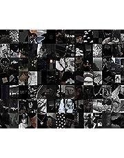 Opuntia Mo Black Wall Collage Kit, Black Wall Collage, Dark Esthetic Collage Kit, Zwart en Wit Muur Collage Kit 100 Stks