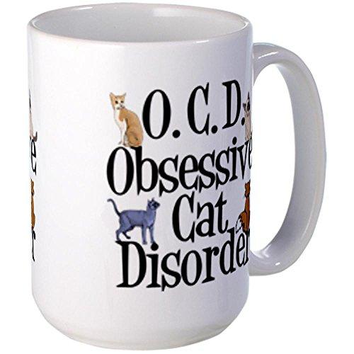 CafePress Unique Decorative Cushion Funny Cat Large Mug Large Mug - Standard