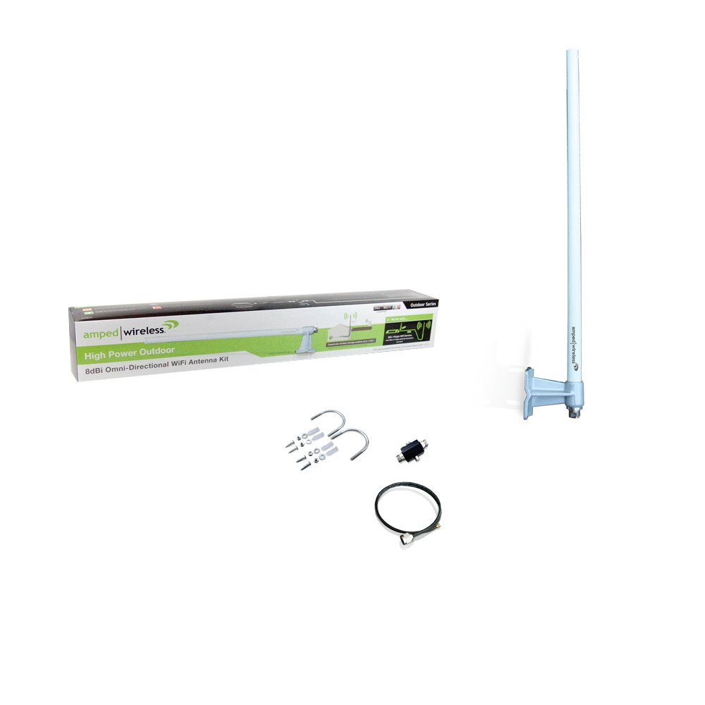 Amped A8EX High Power Outdoor 8dBi Omni-Directional Wi-Fi Antenna Kit by Amped Wireless (Image #3)