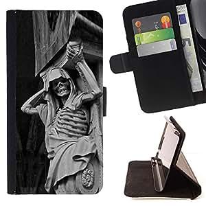 Momo Phone Case / Flip Funda de Cuero Case Cover - Piedra Esqueleto - Samsung Galaxy S6