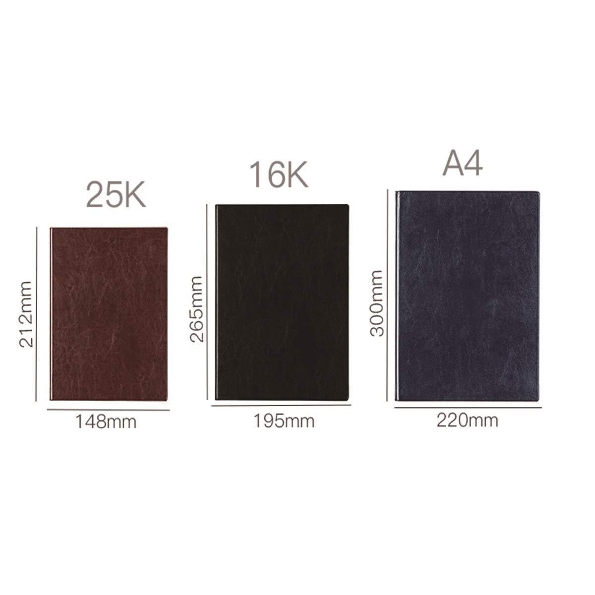notebook business in pelle forniture per ufficio Color : Blue, Size : 16K grande libro A4 cancelleria per notebook SHENGSHIHUIZHONG Taccuino