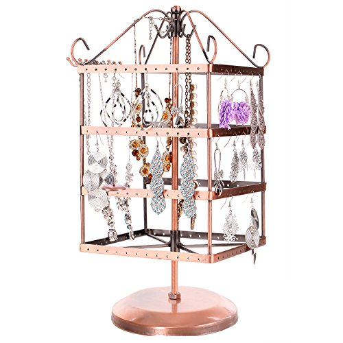 4 Tier Bronze Metal Rotating Display Stand