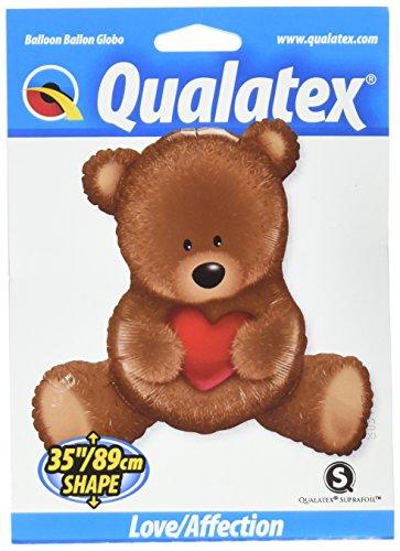 - Qualatex Foil Balloon 016453 Teddy Bear Love, 35