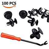 EZYKOO 100pcs LEXUS & TOYOTA Clips, 90467-07201 OEM Replacement Fasteners, Quality Nylon Push Rivets ( Higher Quality than OEM)with Bonus Fastener Remover