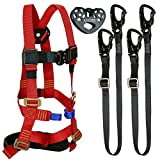 Fusion Climb Tactical Edition Kids Commercial Zip Line Kit Harness/Dual Lanyard/Trolley Bundle FTK-K-HLLT-04