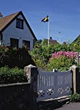 A house in Sweden with flag in top 30x40 photo reprint