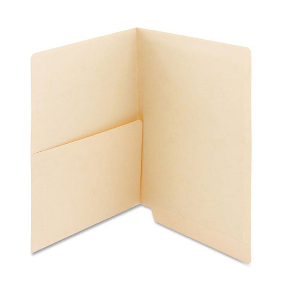 PDC Healthcare ETF143 End Tab Folder, 2-ply, No FAS, 11Pt Manila, Half Pocket on Left Side, 12-1/4'' x 9-1/2'' (Pack of 250)