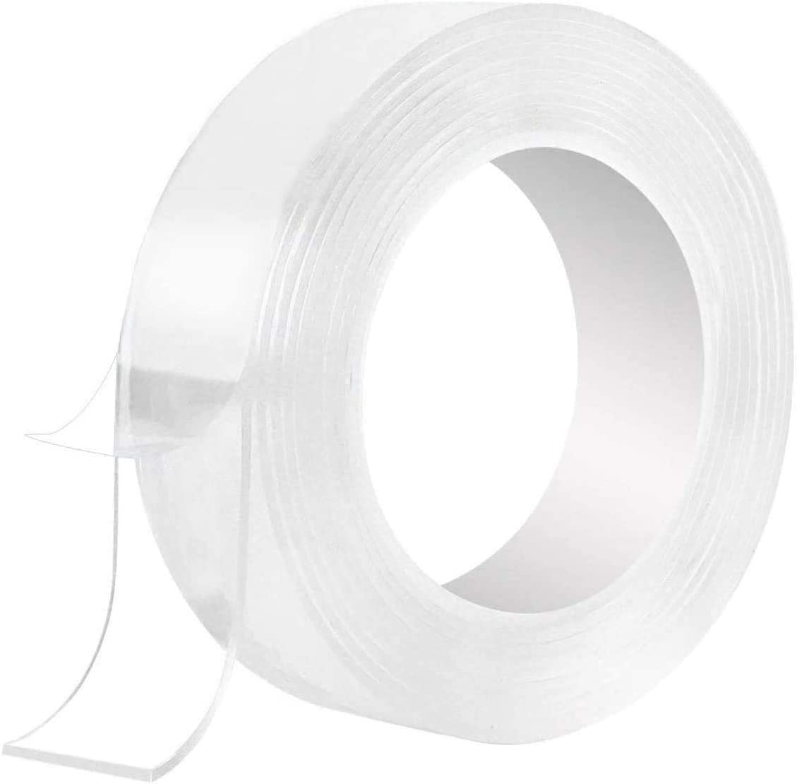 Washable Adhesive Tape Anlising Nano Double Sided Transparent Silicone Gel Grip 3M//9.84ft Reusable Washable Gel Tape for Wall,Room,Paste Photos and Posters,Paste Items
