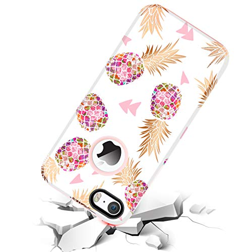 Amazon.com: BENTOBEN Compatible iPhone SE, iPhone 5 5S Case, Hybrid Gold Pineapple Pattern Slim Hard PC Soft Rubber Silicone Shockproof Protective Case ...