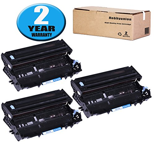3 Pack DR400 Drum Unit by Hobbyunion Replacement for Brother HL-1230 HL-1240 HL-1250 HL-1440 DCP-1200 DCP-1400 MFC-8300 MFC-8500 MFC-8600 MFC-9600 MFC-9700 IntelliFax-4100, (1650 Black Toner)