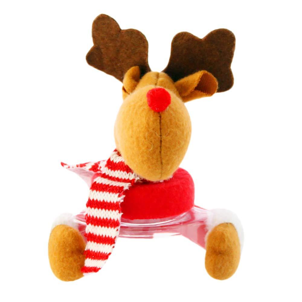 Promisen Christmas Candy Storage Jar,Cute Plastic Jar Canister for Christmas,Home Storage,Candy Box,Table Decoration,Santa Claus/Snowman/Elk (C)