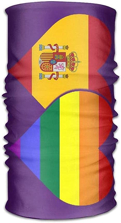 Autisum Pañuelo de Microfibra con Bandera española y Bandera LGBT,50x25 cm, pañuelo elástico con Bandera de Inglaterra,Polaina de Cuello: Amazon.es: Deportes y aire libre