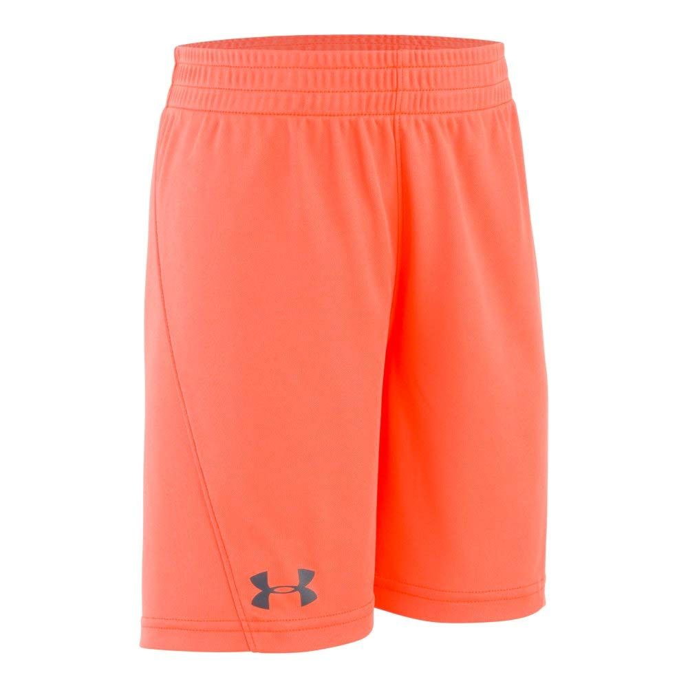 Under Armour Boys' Little Kick Off Short, Medium Orange-S19, 6