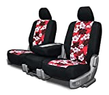 Custom Seat Covers for Volkswagen Bug Front Low Back Seats - Red Neo-Hawaiian