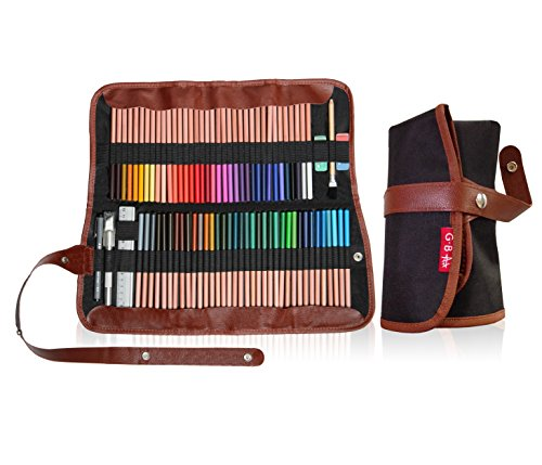 Art supplies organizer set | 72-Slot Colored Pencil Case for Adult & Children coloring books | Pouch for travel | pen bag school holder | Bonus Ebook | Video instructions |(PENCILS NOT INCLUDED) >>