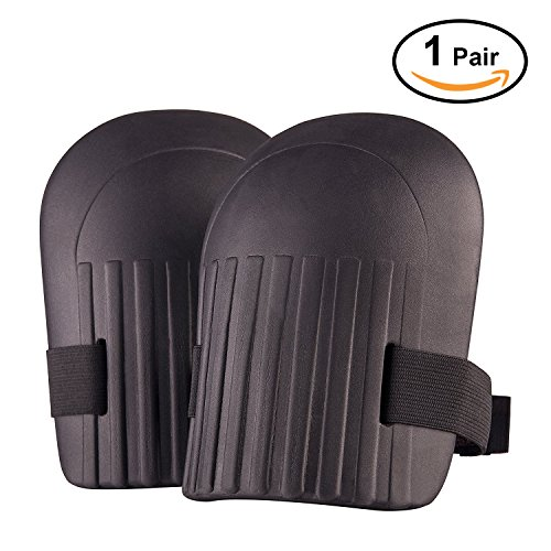 Foam Knee Pads (Gardening Knee pads,Samyoung Protective Gear Knee pads with Flexible Soft Foam Inner Cushioning,Full Adjustable Velcro Straps(Black))