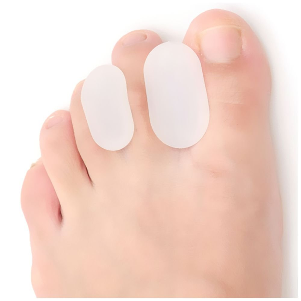 Dr. Foot's Toe Separators - Bunion Pain Relief for Men & Women - 4 Pieces - Small and Large Sizes (Milkwhite - H)