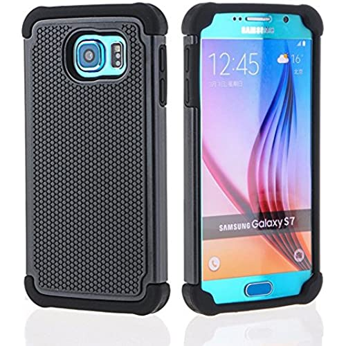 Galaxy S7 Case, [Soft Silicone Series] Shock Absorbing Hybrid Rubber Plastic Impact Defender Rugged Slim Hard Sales