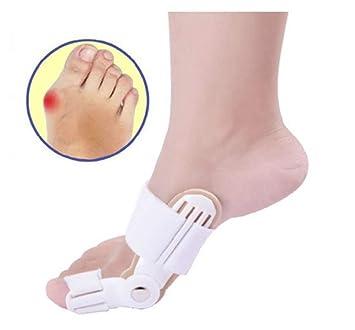 ZNQY Corrector de juanetes Completo, Hallux, Alivio para el Dolor de pies, Corrector de enderezadora, Ajustable, Corrector de compresión para el Dedo del ...