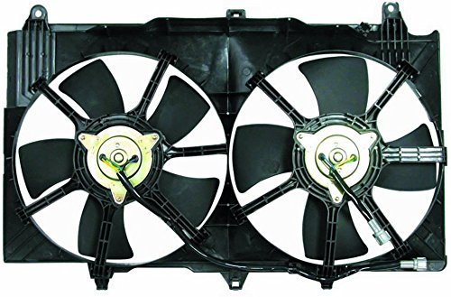 Dual Radiator and Condenser Fan Assembly - Cooling Direct For/Fit NI3115127 03-06 Nissan 350Z 03-06 Infiniti G35 Sedan 03-07 G35 (350z Condenser)