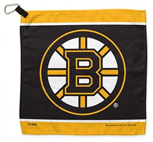 13' Towel Bar (NHL Boston Bruins 13 x 13 inch Golf Waffle Towel by WinCraft)