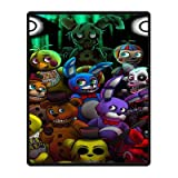 Outdoor Choose Supersoft Custom Five Nights at Freddy's Blanket Anti Pilling Fleece for Bed and Sofa 40 Inches x 50 Inches (Small)
