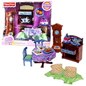 fisher price loving family dollhouse deluxe decor furniture accessory set dining. Black Bedroom Furniture Sets. Home Design Ideas