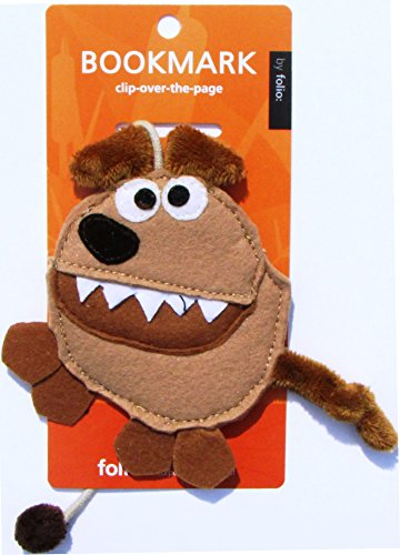 Price comparison product image MAD DOG PLUSH Book String Bookmark - Animal Reading Bookmarks for boys girls kids students. Perfect for reading prizes,  reading incentives,  reading programs and reading awards!